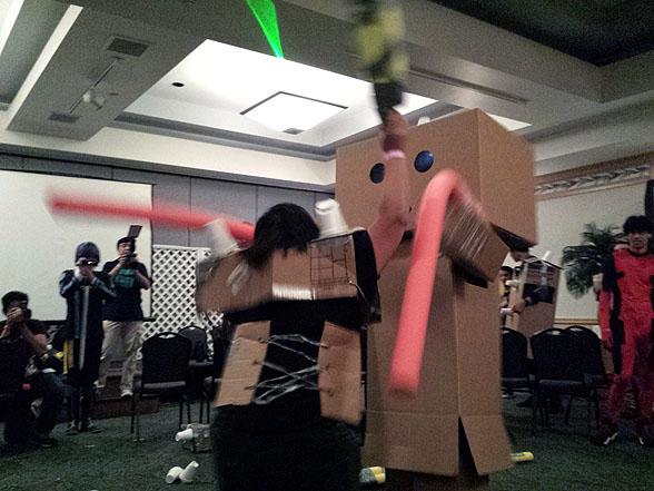 11-T2M cardboard mega-brawl 20141122