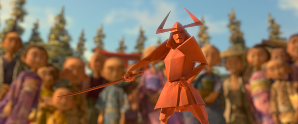 Kubo's story brings magic to life as Little Hanzo, an enchanted origami piece, takes center stage. Courtesy Laika Studios/Focus Features