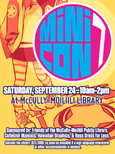 This year's edition of the Mini Con flyer, by Audra Furuichi. Courtesy image.